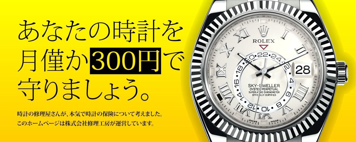 あなたの時計を、月僅か300円で守りましょう。